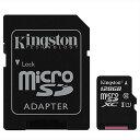 ◇ 【128GB】 Kingston キングストン microSDXCカード CLASS10 UHS-I対応 R:80MB/s SDアダプタ付 海外リテール SDC10G2/128GBFR ◆メ