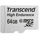 ◇ 【64GB】 Transcend トランセンド microSDXCカード Class10 高耐久 MLC採用 ドライブレコーダー向け SDアダプタ付 TS64GUSDXC10V ◆メ