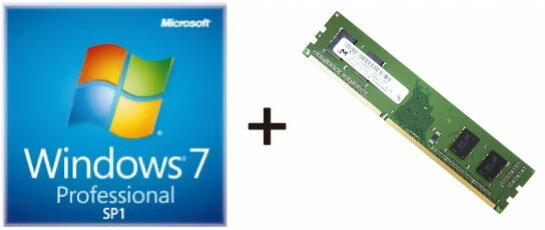 ◇ 【DDR3-1600 1GB DIMMセット】 Microsoft DSP版 64bit 日本語 Microsoft Windows7 Professional 64bit SP1 DSP ◆メ