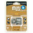 ◇【128MB】 Apacer miniSDカード 40倍速 SD変換アダプター付 プラケース入り 海外リテール AP-MSD128 ◆メ
