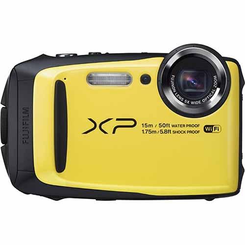◇ 【15m防水、1.75m耐衝撃など4つのタフネス性能】 FUJIFILM フジフィルム デジタルカメラ XP90 1640万画素 光学5倍 イエロー FX-XP90Y ◆宅