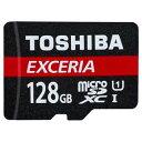 ◇ 【128GB】 TOSHIBA 東芝 EXCERIA microSDXCカード CLASS10 UHS-I対応 R:48MB/s 海外リテール THN-M301R1280A4 ◆メ