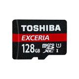 ◇ 【128GB】 TOSHIBA 東芝 EXCERIA microSDXCカード CLASS10 UHS-I対応 R:48MB/s 海外リテール THN-M301R1280C4 ◆メ
