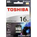 16GB SDHCカード SDカード TOSHIBA 東芝 EXCERIA PRO CLASS10 UHS-I U3 R:95MB/s W:75MB/s 海外リテール THN-N401S0160A4 ◆メ