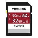 ◇ 【32GB】 TOSHIBA 東芝 EXCERIA SDHCカード Class10 UHS-I U3対応 R:90MB/s 海外リテール THN-N302R...