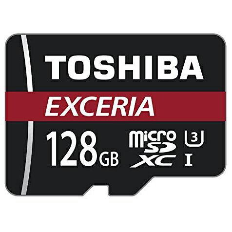 128GB microSDXCカード マイクロSD TOSHIBA 東芝 EXCERIA CLASS10 UHS-I U3 R:90MB/s 海外リテール THN-M302R1280C4 ◆メ