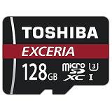 ◇ 【128GB】 TOSHIBA 東芝 EXCERIA microSDXCカード CLASS10 UHS-I対応 R:90MB/s 海外リテール THN-M302R1280C4 ◆メ