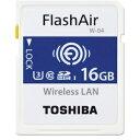 16GB TOSHIBA 東芝 無線LANSDHCカード 第4世代FlashAir W-04 UHS-1 U3 R:90MB/s W:70MB/s 海外リテール THN-NW04W0160C6 ◆メ