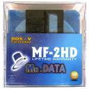 フロッピーディスク MR.DATA 3.5インチ 2HD Windows DOS/Vフォーマット済 10枚入 カラーミックス MF-2HDDOS/VMIX10P ◆宅