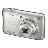 ◇ Nikon ニコン デジタルカメラ COOLPIX S3700 光学8倍ズーム 2005万画素 Wi-Fi内蔵 NFC対応 シルバー COOLPIXS3700SL ◆宅