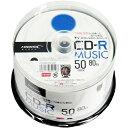 ◇ 【TY技術を引き継いだ国産同等品質】 HI-DISC ハイディスク 音楽用 CD-R 80分(700MB) 48倍速 50枚スピンドル ホワイトワイドプリン...