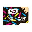 ◇ 【64GB】 LD microSDXCカード Class10 UHS-I対応 高速転送 R:最大70MB/s 日本語パッケージ LD-MSD64GC10U1...
