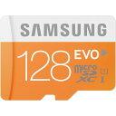 ◇ メルマガ特価★ 【128GB】 Samsung サムスン microSDXCカード EVO Class10 UHS-1 R:48MB/s SDアダプター付 ...