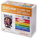 DVD-RW メディア くり返し録画用 HI-DISC ハイディスク CPRM 2倍速 10枚 5mmスリムケース入り ワイドプリンタブル HDDRW12NCP10SC ◆宅