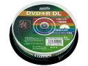 DVD+R DL HI-DISC ハイディスク 2層 8倍速 データ用 10枚スピンドル ホワイトプリンタブル HDD+R85HP10 ◆宅