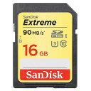 16GB SDHCカード SDカード SanDisk サンディスク Extreme UHS-I U3 R:90MB/s W:40MB/s 海外リテール SDSDXNE-016G-GNCIN ◆メ