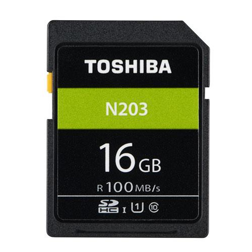 16GB SDHCカード SDカード TOSHIBA 東芝 N203 Class10 UHS-I U1 R:100MB/s 海外リテール THN-N203N0160A4 ◆メ
