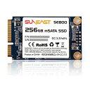 256GB SSD 内蔵型 mSATA III 6Gb/s SUNEAST サンイースト 3D TLC TRIM機能 SLCキャッシュ技術 R:530MB/s W:450MB/s SE800-m256GB ◆メ
