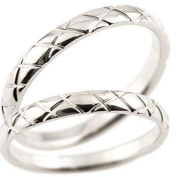 [送料無料]結婚指輪 マリッジリング ペアリング ホワイトゴールドk18 k18wg 2.5ミリ幅 ブライダルジュエリー 2本セット アンティーク【_包装】0824カード分割【コンビニ受取対応商品】 【二人に寄り添う幸せの証 ペアリング】