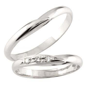 [送料無料]結婚指輪 マリッジリング ペアリング 2本セット プラチナ900 ダイヤ ダイヤモンド【_包装】0824カード分割【コンビニ受取対応商品】 【2人の幸せを祈る 愛のお守り】