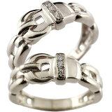 []ペアリング 結婚指輪 マリッジリング キュービックジルコニア シルバー ベルト バックル デザイン 2本セット【楽ギフ包装】02P13Dec14