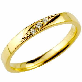 [送料無料]ダイヤモンドリング 婚約指輪 エンゲージリング 指輪 ダイヤ ストレート イエローゴールドk18 レディース 18k 18金【_包装】0824カード分割【コンビニ受取対応商品】 ストレートラインのダイヤモンドリング