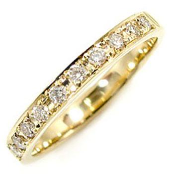 [送料無料]婚約指輪 エンゲージリング エタニティリング ピンキーリング ダイヤモンドリング 0.20ct イエローゴールド K18 18k レディース【_包装】0824カード分割【コンビニ受取対応商品】 永遠の誓い ダイヤモンドの輝きを最大限に