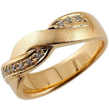[送料無料]婚約指輪 エンゲージリング ピンクゴールドk18 18金 ダイヤモンドリング ダイヤ 指輪  幅広 つや消し レディース 18k 18金【_包装】0824カード分割【コンビニ受取対応商品】 柔らかく編み込まれたオリジナルデザイン
