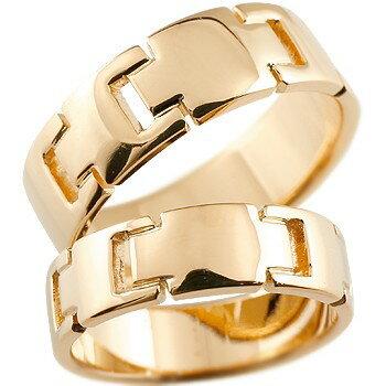 [送料無料]クロス ピンクゴールドk18 ペアリング 結婚指輪 マリッジリング ウェディングリング ウェディングバンド 記念リング 結婚式 18金 幅広 地金リング 宝石なし 2本セット【_包装】0824カード分割【コンビニ受取対応商品】 【2人の大切な想いを形に】
