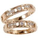 ペアリング 結婚指輪 マリッジリング 2本セット ピンクゴールドk18 ダイヤ ダイヤモンド リング 2本セット18k 18金 クリスマス 指輪 大きいサイズ対応 送料無料
