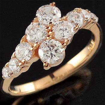 [送料無料] ダイヤモンド リング 婚約指輪 エンゲージリング ピンクゴールドk18 レディース18k 18金【_包装】0824カード分割【コンビニ受取対応商品】 眩しいくらいの煌めきを放つダイヤモンドジュエリーエネルギー効率の高いです