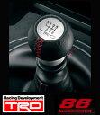 【 TOYOTA 86 (ハチロク) DBA-ZN6 / FA20用 】 TRD 本革巻きシフトノブ MT車用 ( 品番:MS204-18001 ) TRD PERFORMANCE PARTS