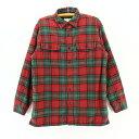 エルエルビーン L.L.Bean チェック ネルシャツ メンズ L 赤 レッド 裏地付き ライニング アウトドア アメリカ古着 アメカジ メンズ古着 中古 ユーズド