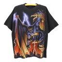 90sガーゴイルズOLDプリントTシャツ★★★90's1990年代アメリカ古着アメカジ古着メンズ古着中古ユーズドLサイズ黒ブラック