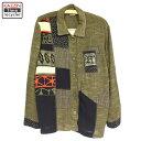 ショッピングパッチワーク 90s 総柄 デザインシャツジャケット パッチワーク 古着 ★ Lサイズ
