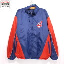 ショッピング野球 90s MLB クリーブランド・インディアンズ リバーシブル ナイロン ジャケット 古着 ★ XLサイズ