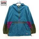 90s USA製 エルエルビーン チロリアン ナイロン アノラック パーカー 古着 ★ XLサイズ ブルー グリーン パープル