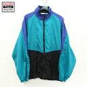 ショッピングコート 古着 90s Reebok デザイン ナイロン ジャケット ★ XLサイズ エメラルドグリーン ぽっきり