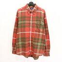 90s オールドギャップ チェック 長袖 ネル シャツ 古着 ★ XLサイズ ビックサイズ 大きいサイズ レッド グリーン