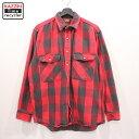 ショッピングネルシャツ 80s USA製 OSHKOSH ブロックチェック 長袖 ネルシャツ 古着 ★ 表記Lサイズ レッド ブラック