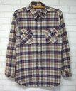 80sリーバイス長袖チェックネルシャツ★★★80's1980年代アメリカ古着アメカジ古着アメリカ製USA製MサイズLサイズベージュLEVISシャツ