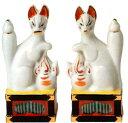 神棚・神具 『稲荷きつね 陶器製 5寸 1対(2個)入り』【z4304】【狐】【キツネ】【とうき】【
