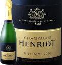 アンリオ・ブリュット・ミレジメ 2003【シャンパン】【750ml】【正規】【Henriot】