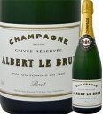 シャンパーニュ・アルベール・ル・ブリュン・ブリュット【フランス】【白ワイン】【750ml】【ミディアムボディ】【辛口】