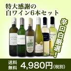 【送料無料】第26弾!美味しい辛口白ワインだけを京橋ワインが厳選!特大感謝の大満足白ワイン6本セット!!