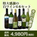 【送料無料】第31弾!美味しい辛口白ワインだけを京橋ワインが厳選!特大感謝の大満足白ワイン6本セット!!