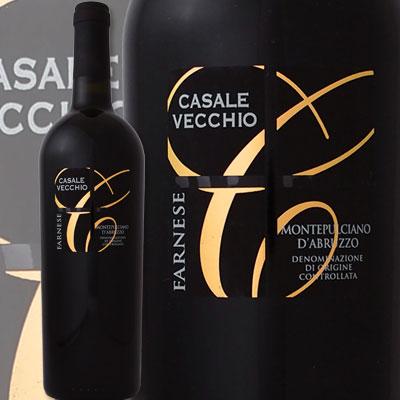 ファルネーゼ・カサーレ・ヴェッキオ・モンテプルチアーノ・ダブルッツォ 2014【イタリア】【赤ワイン】【750ml】【フルボディ】【辛口】【神の雫】【Farnese】【Casale Vecchio】