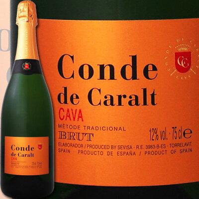 コンテ・デ・カラル・カバ・ブリュット【スペイン】【白スパークリングワイン】【750ml】【カヴァ】【辛口】【金賞】 02P11Mar16