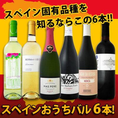 【送料無料】ぜ~んぶ京橋ワイン独占輸入!スペイン固有品種を知るならこの6本!スペインおうちバル6本セット!
