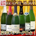 【送料無料】第53弾!ベスト・オブ・スパーク!京橋ワイン厳選!高級クレマンも入った極旨泡ばかりの辛口スパークリングワイン6本セット!